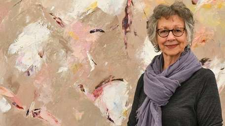 Parrish Art Museum curator Alicia Longwel with a