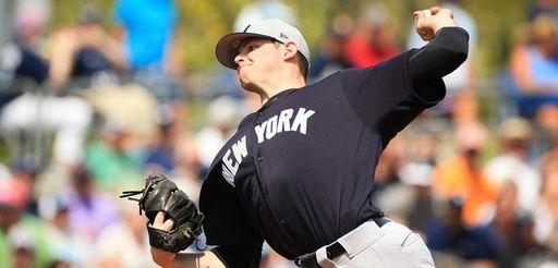 New York Yankees rookie Jordan Montgomery struck out