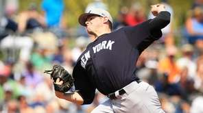 New York Yankees rookie Jordan Montgomery struck out