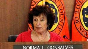Nassau County Legislature Norma Gonzales during the meeting