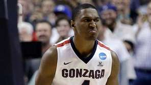 Gonzaga guard Jordan Mathews (4) celebrates after scoring