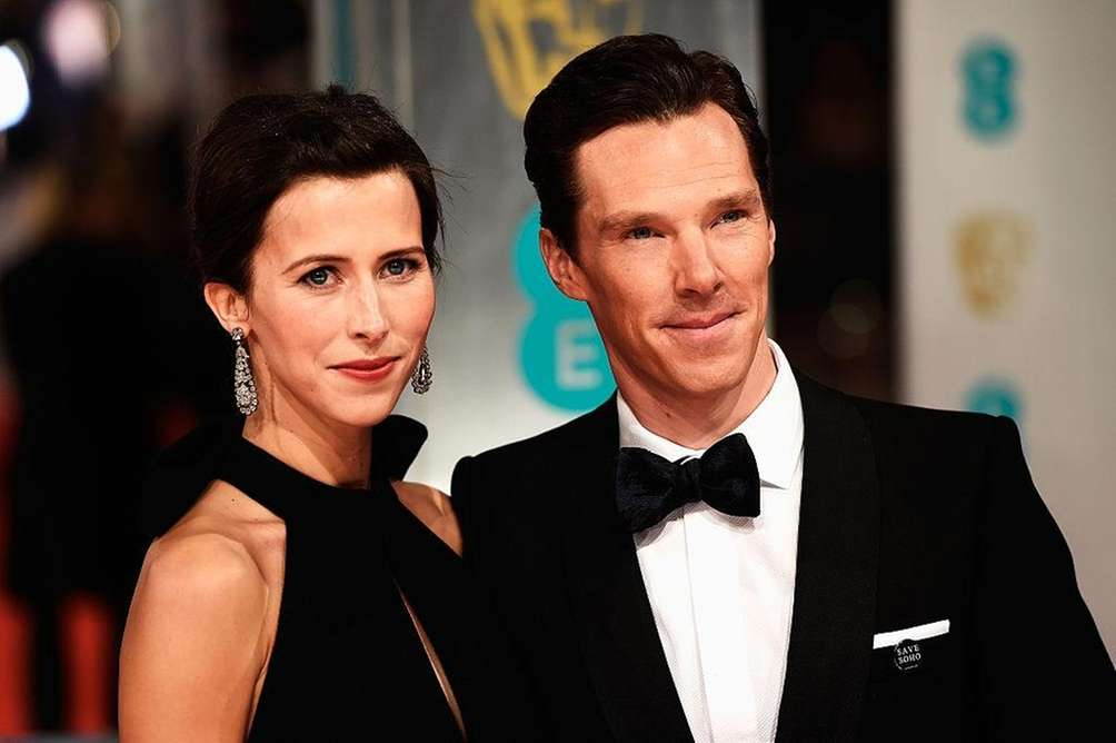 Parents: Benedict Cumberbatch and Sophie Hunter Child: Hal,