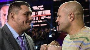 Matt Mitrione, left, will fight Fedor Emelianenko, at