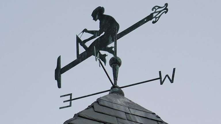 Not many people notice the weathervane perched on