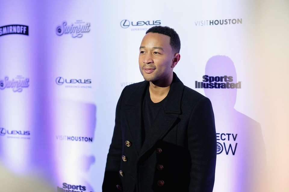 After landing at JFK International Airport, John Legend's