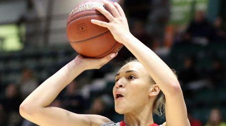 Long Island Lutheran's Celeste Taylor shoots a three-pointer