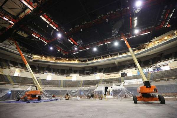 Interior renovations continue at the Nassau Coliseum in
