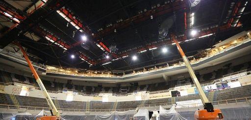 Interior renovations continue at the Nassau Coliseum in