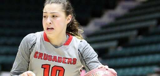 Long Island Lutheran's Grace Stone drives with the