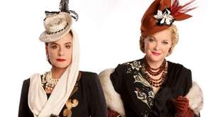 Patti LuPone, left, as Helena Rubinstein and Christine