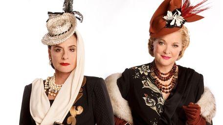 Patti LuPone, left, as Helena Rubinstein and Christine