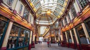 Leadenhall Market was used for Diagon Alley in