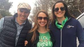 Chris Donlan, Candice Farrell and Rebecca Donlan celebrated