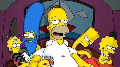 The Simpsons face the their annual tricks and
