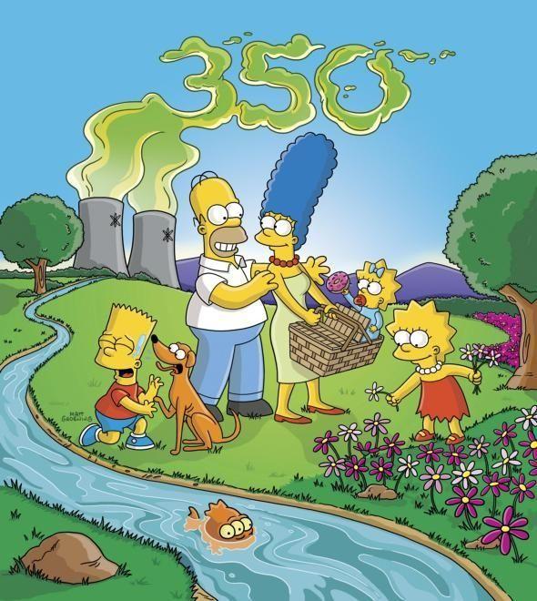 From left, Bart, Santa's Little Helper, Homer, Marge,
