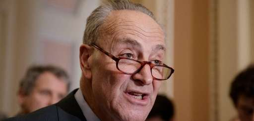 Senate Minority Leader Chuck Schumer on March 21,