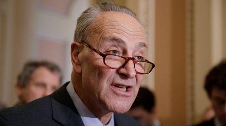 Senate Minority Leader Chuck Schumer on March 21,