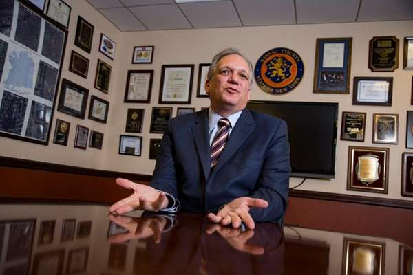 Nassau County Executive Edward Mangano speaks about how