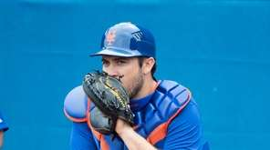 Mets catcher Travis d'Arnaud, here in a camp