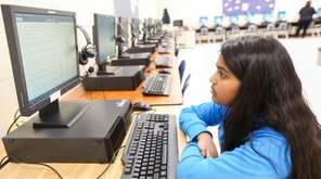 Longwood Middle School fifth-grader Alena Ibraham, 10, of