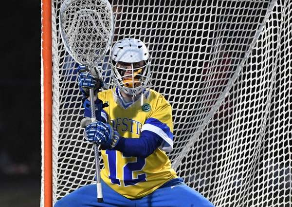 Hofstra goalkeeper Jack Concannon protects the net against