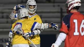 Hofstra attacker Josh Byrne and attacker Hofstra Jimmy