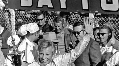 Pete Hamilton after winning Daytona 500 on Feb.