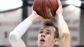Long Island Lutheran's Donatas Kupsas shoots during a
