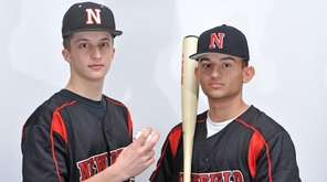 Bobby Vath, left, and Kyle Johnson of Newfield