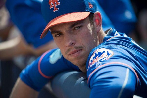 New York Mets pitcher Steven Matz looks on