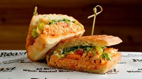 This Buffalo-roasted chicken-Gorgonzola sandwich from Roast Sandwich House