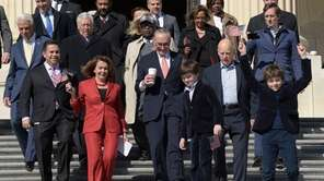 Democrats, including House Minority Leader Nancy Pelosi and