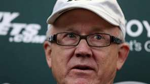 New York Jets owner Woody Johnson answers a