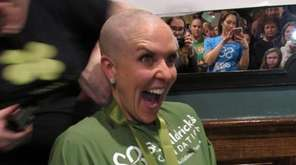 West Islip's Kathleen Gagliardi got her head shaved