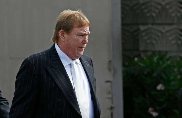 Oakland Raiders owner Mark Davis arrives for a