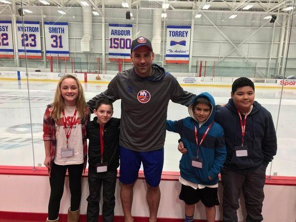 New York Islanders player Johnny Boychuk with Kidsday
