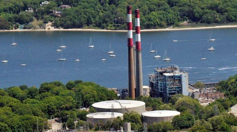 An aerial view of the Port Jefferson Power