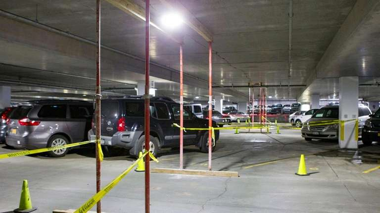 The Town of Oyster Bay parking facility, which