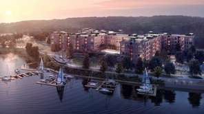 A rendering of the Garvies Point development near