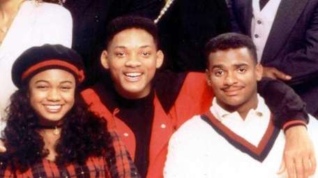 Tatyana Ali, Will Smith and Alfonso Ribeiro (pictured
