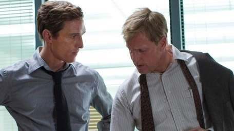 Matthew McConaughey, left, starred as Rustin Cohle and