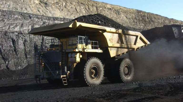 A haul truck with a 250-ton capacity carries