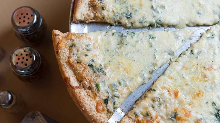 A spinach pizza that once appeared on the