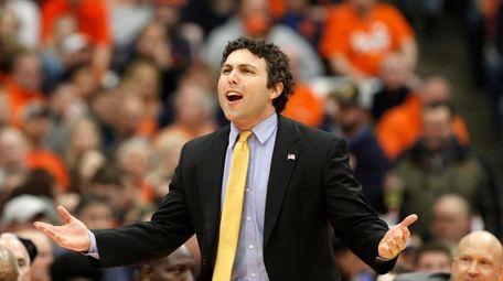 Georgia Tech head coach Josh Pastner yells to