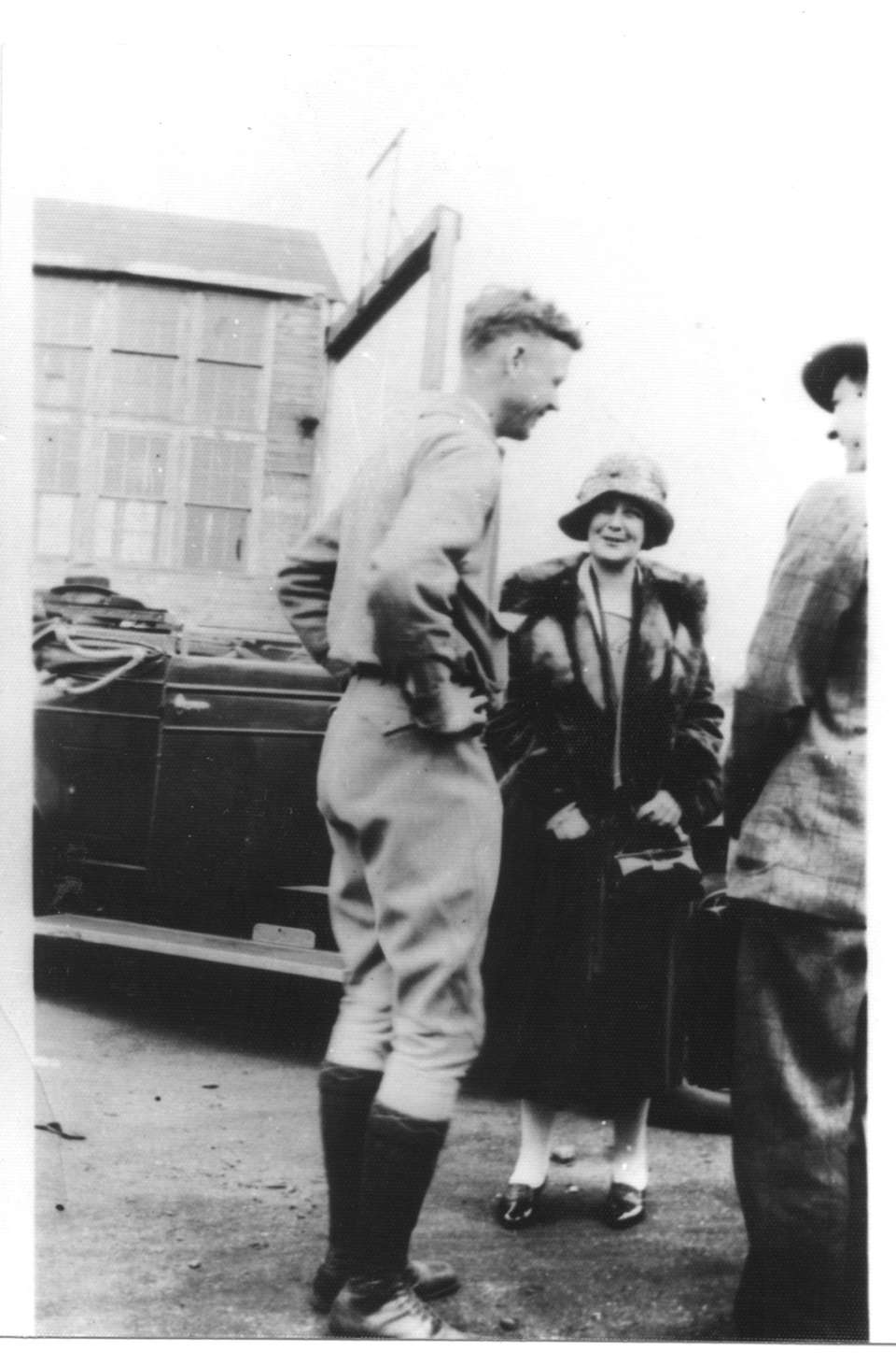 Charles A. Lindbergh with his mother at Roosevelt