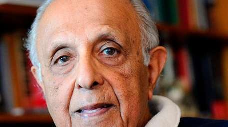 Ahmed Kathrada seen in his house in Johannesburg,