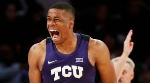 TCU's Brandon Parrish (11) reacts against Central Florida