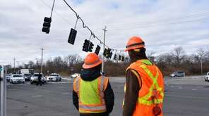 Route 110 was temporarily closed in both directions