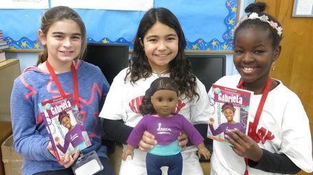 Kidsday reporters from left, Casey DiGioia, Zoey Rosario