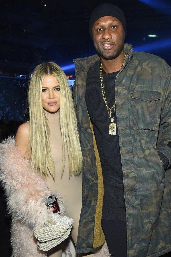 Khloé Kardashian and Lamar Odom in February 2016.